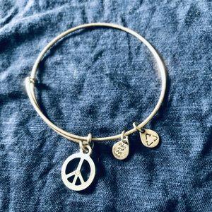 Alex & Ani Peace Sign Bangle Bracelet